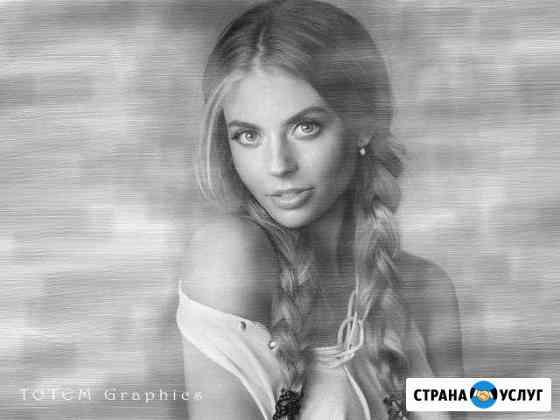 Рисунки карандашом по фотографии под заказ Омск