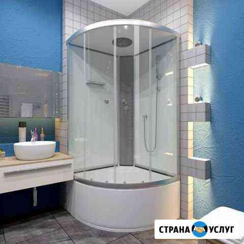 Установка и Ремонт Душевых кабин и ванн Омск