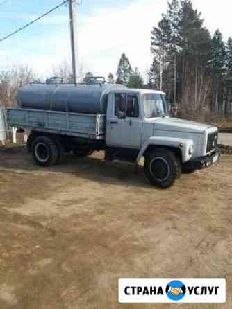 Доставка питьевой воды 4 куба,Водовоз,Водовозка Иркутск