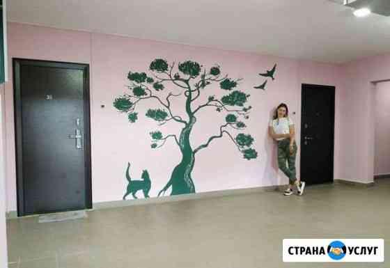 Роспись стен, графика Иркутск