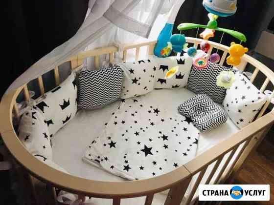 Бортики в кроватку на заказ Иркутск