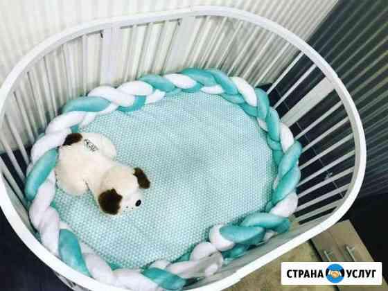 Бортики в кроватку,постельное для детей Иркутск
