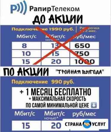 Безлимитный интернет (Рапир Телеком) Любинский