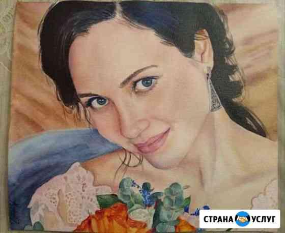 Портрет акварелью на заказ Иркутск