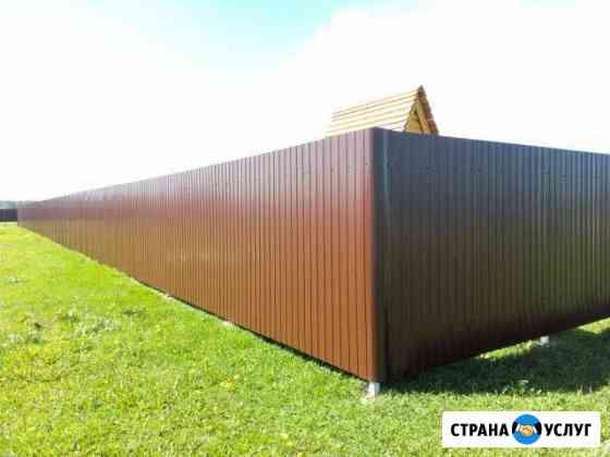 Забор, ворота, калитки, навесы, беседки Омск