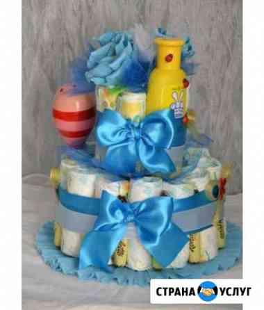 Торт из памперсов Омск