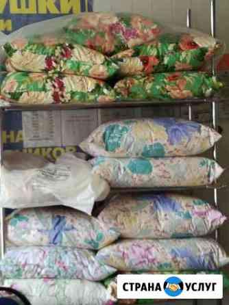 Реставрация подушек, перин, одеял Астрахань
