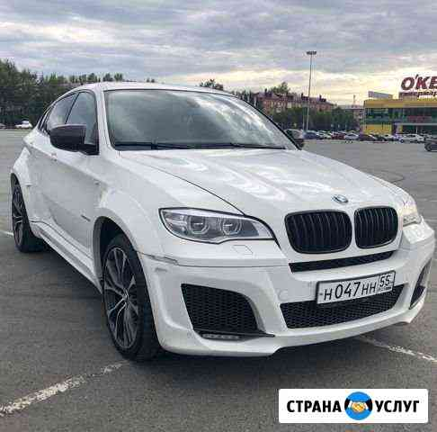 Прокат авто бмв bmw x6 х6, с водителем Омск