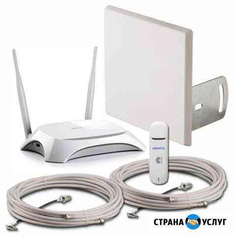 Комплект для усиления 3G/4G сигнала Омск