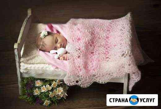 Фотосессия новорожденных малышей у вас дома Омск