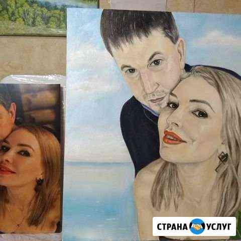 Портрет на заказ, портрет животных,пейзаж,натюрмор Омск