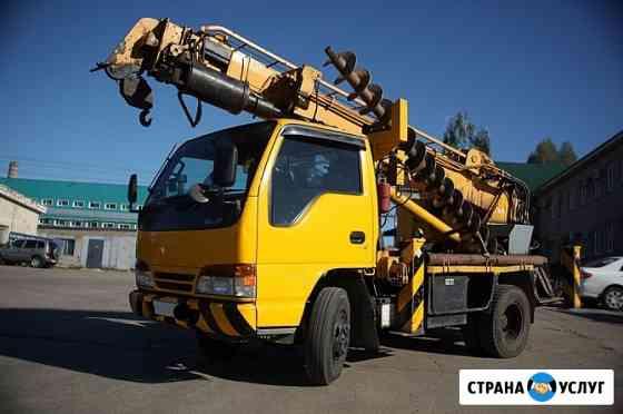 Услуги ямобура, Установка опор, Буровые работы Иркутск